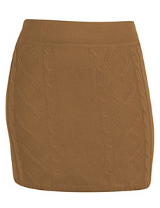 Camel Sweater Skirt by Extra Touch