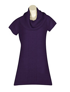Purple Sweater Dress by Extra Touch