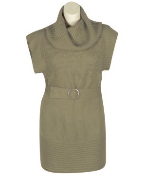 Tan Belt Sweater Dress