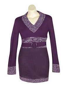 Purple Tunic Sweater by Extra Touch