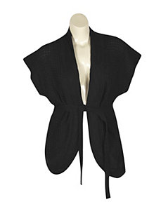 Black Belted cardigan by Extra Touch