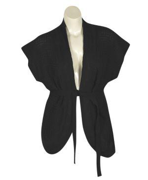 Black Belted cardigan