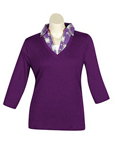 Purple Road Top by Extra Touch