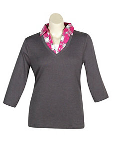 Grey Road Top by Extra Touch