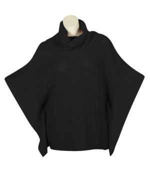 Black Perfect Poncho