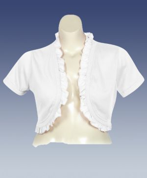 White Ruffle Shrug