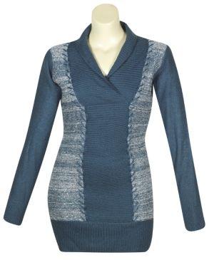Shawl Collar Sweater Dress