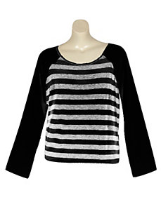 Stripe Top by Extra Touch