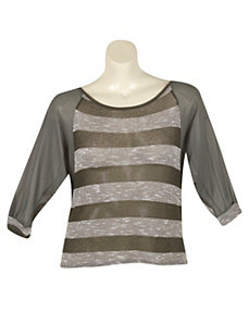 Sudden Stripe Top by Extra Touch