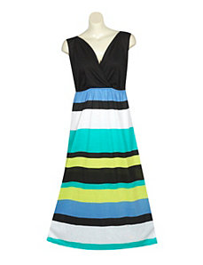 Lime Stripe Maxi Dress by Extra Touch