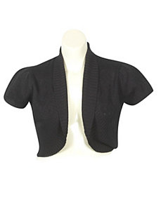 Shawl Collar Shrug by Extra Touch