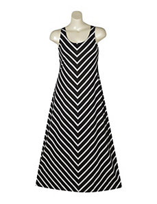 Black Stripe Maxi Dress by Extra Touch
