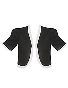 Black Keyhole Back Shrug by Extra Touch