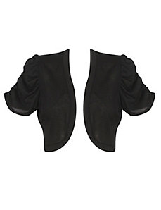 Lace Back Black Shrug by Extra Touch