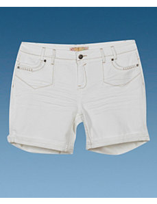 White Denim Short by Apollo Jeans