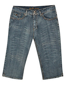 Studded Denim Capri by Apollo Jeans