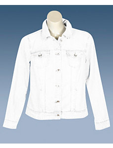 White Denim Boston Jacket by Baccini