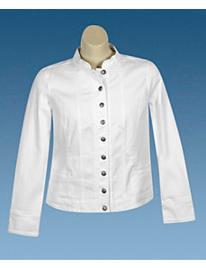 White Military Jacket by Baccini