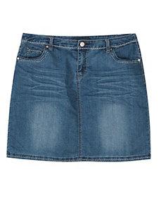 Do Over Denim Skirt by Baccini