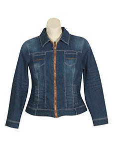 Blue Jean Zipper Jacket by Baccini