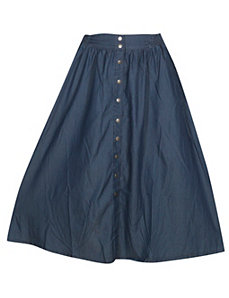 Blue Chambray Skirt by Baccini