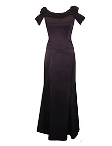 Edgy Eggplant Dress by Alex Evenings