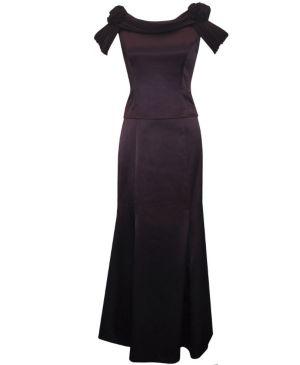 Edgy Eggplant Dress