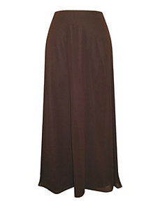 Brown Wavy Skirt by Alex Evenings