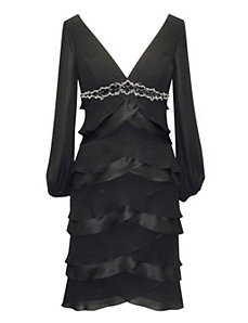 Black Chiffon Dress by Alex Evenings