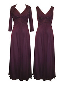 Purple Dress Set by Alex Evenings