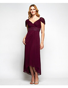 Vintage Wine Evening Dress by Alex Evenings