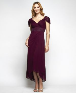 Vintage Wine Evening Dress