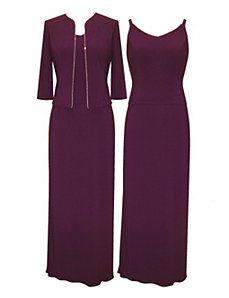 Eggcellent Eggplant Evening Dress by Alex Evenings
