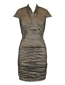 Pewter Parties Evening Dress by Alex Evenings