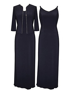 Navy Lady Dress by Alex Evenings