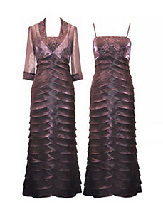 Ripples of Mauve Dress by Alex Evenings