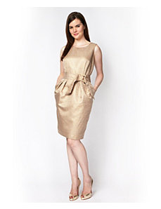 Short Champagne Dress by Alex Evenings