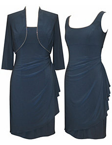 Rising Smoke Blue Dress by Alex Evenings