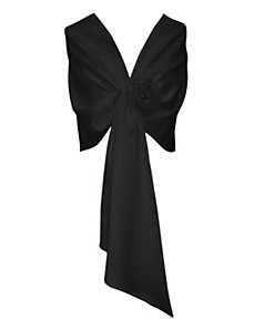 Black Tie Satin Wrap by Alex Evenings
