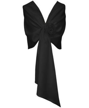 Black Tie Satin Wrap