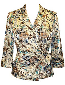 Chiffon Print Blouse by Alex Evenings