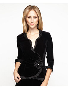 Elegant Velvet Blouse by Alex Evenings