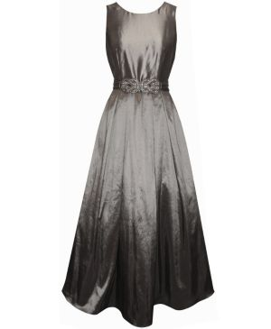 Silver Knotted Jewels Gown