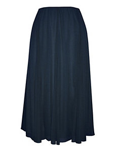 Dark Azure Long Ruffles Skirt by Alex Evenings