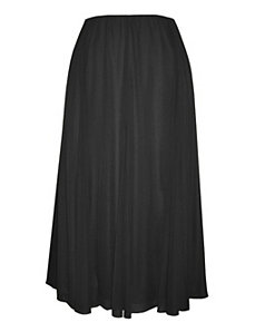 Black Long Ruffles Skirt by Alex Evenings