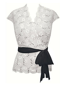 Sweet Bowtie Lace Top by Alex Evenings
