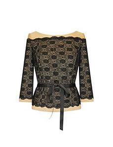 All Evening Lace Top by Alex Evenings