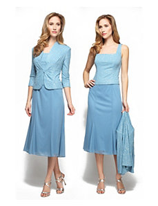 Blue Dress Jacket Set by Alex Evenings