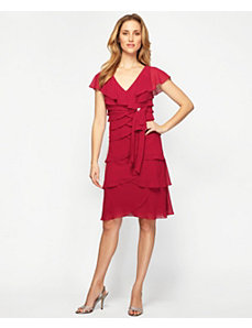 Red Pretty Party Dress by Alex Evenings