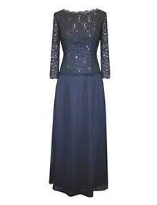 Slate Evening Dress by Alex Evenings